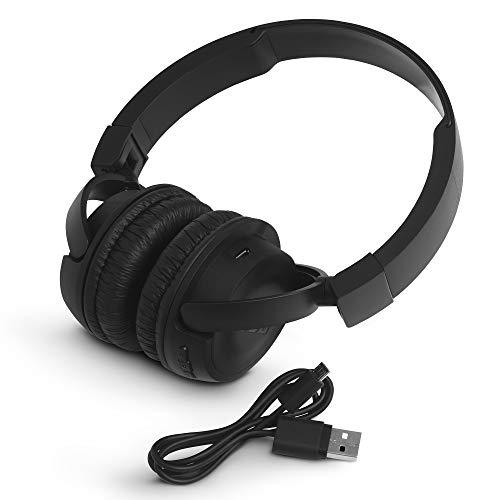 JBL T460BT Extra Bass Wireless On-Ear Headphones with Mic (Black) Image 5
