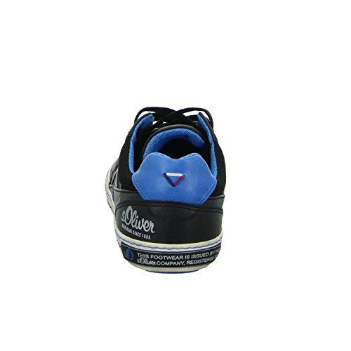 s.Oliver 5-13602-37098 Herren Schnürhalbschuh sportlicher Boden sportliche Optik Black Comb