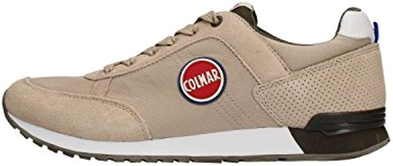 Colmar TRACOL Beige Military Military Military Scarpe Uomo scarpe da ginnastica Lacci Tessuto 45 | moderno  371f23