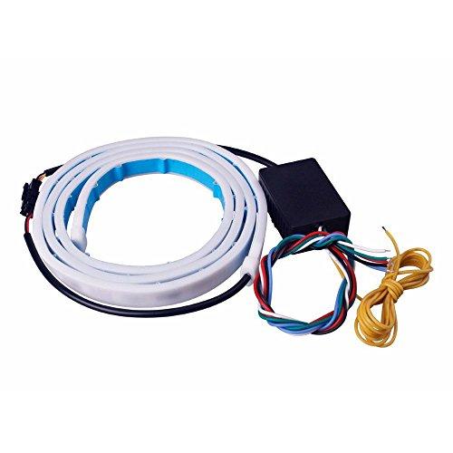 SODIAL 120 cm 47 Zoll Flexible Streifen Auto Hinten Schwanz Box Licht Dynamische Streamer Bremse Blinker Led Warnung Trunk Lamp Bar