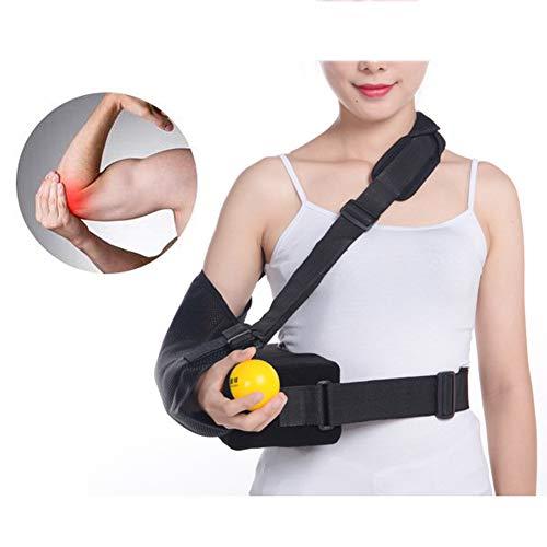 Armschlaufe Ellenbogenstütze, Atmungsaktiver Netzschlaufe Mit Hüftgurt, Ellenbogenschulter Gebrochene Verletzung Schmerzlinderung Und Unterstützung, Einheitsgröße - Unisex,Left