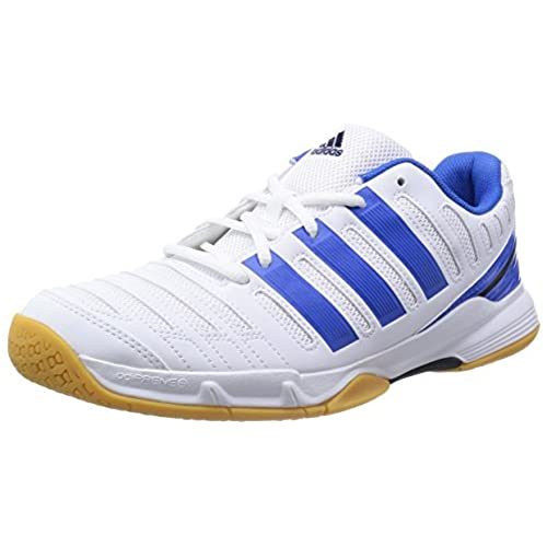 adidas Essence 11, Men's Indoor Multisport Court Shoes, White/Blue, 11 UK