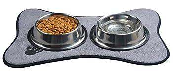 Sinland Pet bol Tapis pour chien - microfibre Tapis de bol