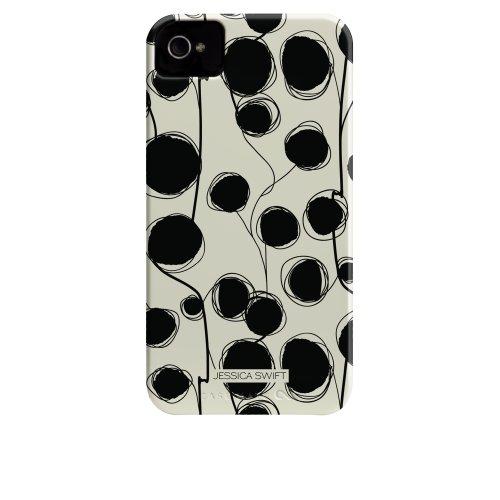 Case-mate Cinda B Tough Designer Cases for Apple iPhone 4/4s - Shibori Schwarz, Weiß
