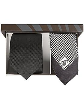 JACQUES BRITT Krawatte und Einstecktuch Brown Label Krawatte