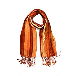 Stylezee Ombre Stripes in Beautifully Blended Colors Shawls & Stole (Brown::Tan)