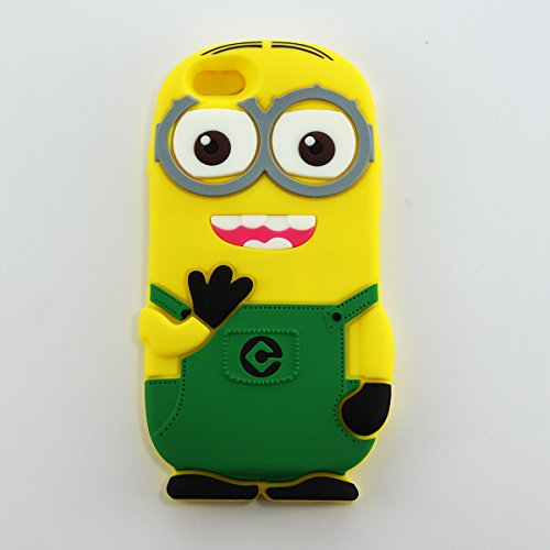 Siratech 3D Plain Minion Green Back Case Back Cover with 1 tempered Glass For Apple Iphone 6 6s  available at amazon for Rs.475