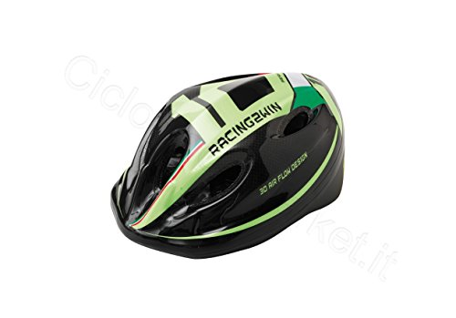 'Helm Helm 'Racing für Kinder/Mädchen–Kopfumfang 48–54cm–Farbe Grün/Schwarz