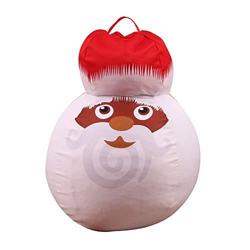 toile Bee, bonhomme de neige Bean Bag Chair et rangement pour animaux rembourrés Idéal pour les chambres à coucher, les salles de jeu et les dortoirs, cinq
