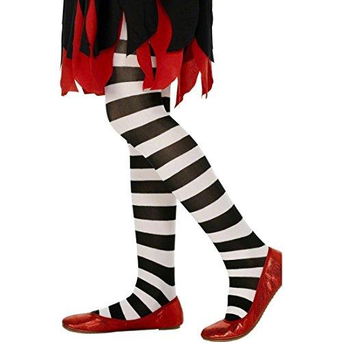 Amakando Pantys rayados Medias de niño Blanco y Negro Medias Coloridas Accesorio Disfraz Carnaval Calcetines con círculos Legging Infantil a Rayas