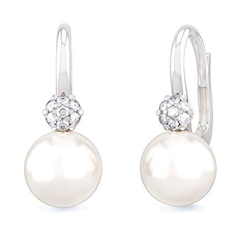 Orecchini donna NEREIDI in oro bianco 18kt e palladio con perle e diamanti
