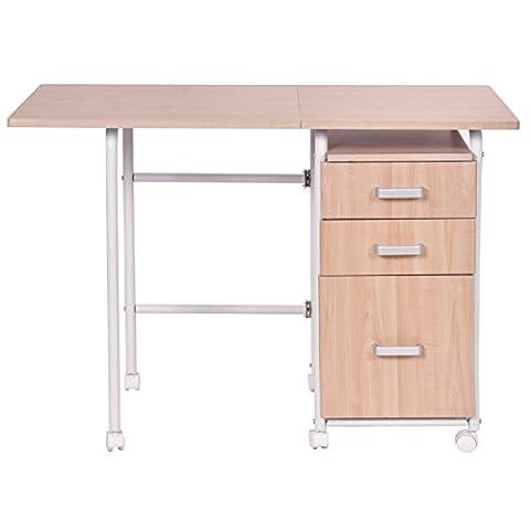 Schreibtisch Computertisch Bürotisch klappbar rollbar 3