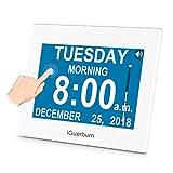 iGuerburn Digitaler Kalender Digitaler Wecker Tag mit 8