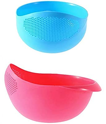 DreamKraft Multi-Function Rice Pulses Fruits Vegetable Noodles Pasta Washing Bowl & Strainer for Storing and Straining