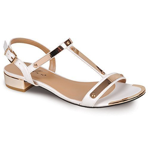 Sapphire Boutique by Sapphire, Sandali donna Bianco / Oro