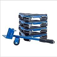 رافعة أثاث شديدة التحمل، رافعة أثاث مع منزلقات متحركة مثلثة، ومجموعة ادوات لنقل الاجهزة ومزلج بحمولة 660 باوند