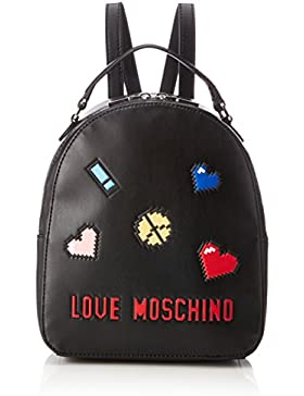 BORSA DONNA LOVE MOSCHINO ZAINETTO NAPPA SOFT 8-BIT COL. NERO BS18MO12