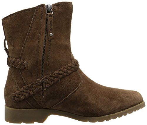 Teva Ladies Delavina Low Waterproof Suede Half Calf Height Boots Brown Bison