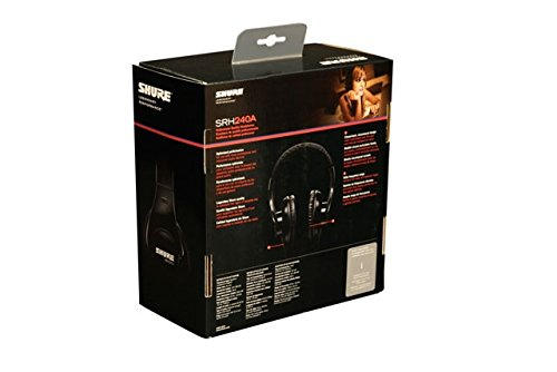 Shure SRH240A, geschlossener Kopfhörer / Over-ear, schwarz, geräuschunterdrückend, druckvolle Bässe und detaillierte Höhen - 5