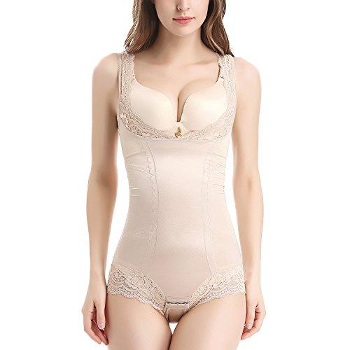 Movwin donna body contenitivo snellente shapewear aperto busto corsetto bustino seamless body shaper intimo modellante