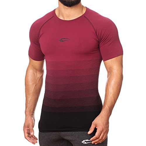 SMILODOX Herren Seamless T-Shirt Process Bordeaux