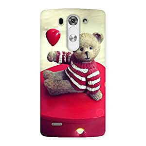 Premium Red Heart Teddy Back Case Cover for LG G3 Beat