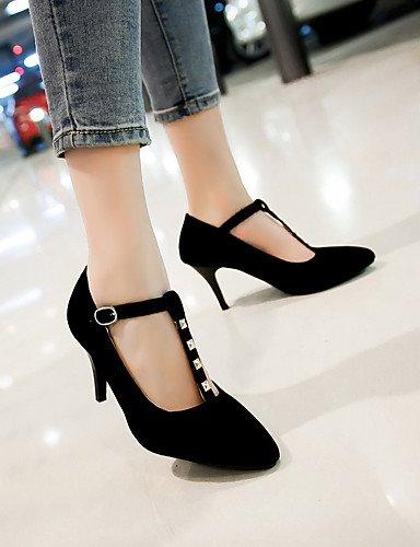 WSS 2016 Chaussures Femme-Habillé / Décontracté-Noir / Bleu / Rouge-Talon Cône-Bout Pointu-Talons-Similicuir blue-us10.5 / eu42 / uk8.5 / cn43