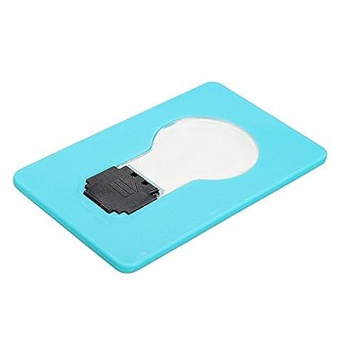 Inovey 4 Couleurs Carte Led Lumière D'Urgence Portatif De Poche Lumière Ampoule Lampe Portefeuille Taille - Bleu