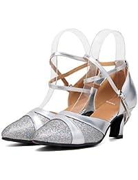 Tappers & Pointers - Zapatillas de danza para niña Plateado plata, color Plateado, talla 37 1/3