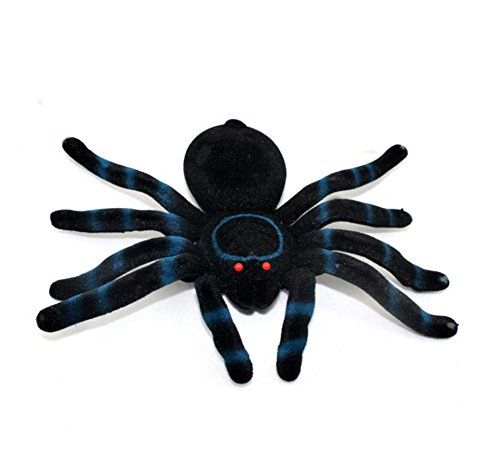 fablcrew schwarz Spinnen Halloween Simulation Plüsch Spider Haunted House Prop für Halloween Dekoration