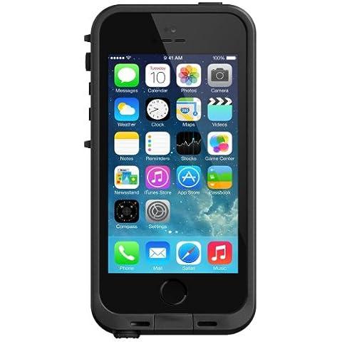Lifeproof Free - Funda para móvil iPhone 5 / 5S (con protector de pantalla, resistente a rayones), negro