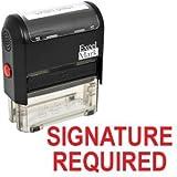 Unterschrift erforderlich selbstfärbende Stempel–Rot Tinte (42a1539web-r) von excelmark