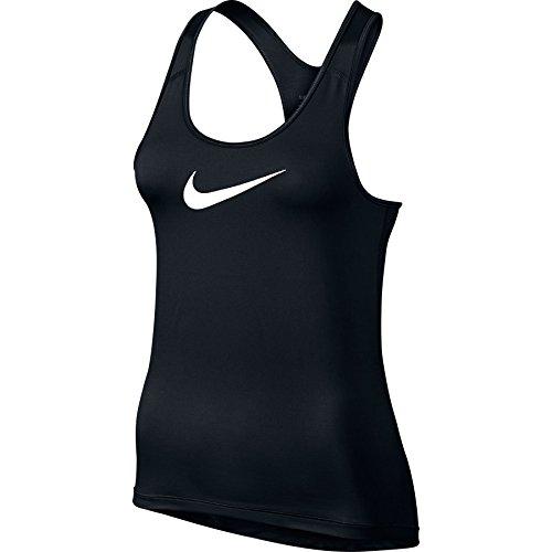 Nike Pro Cool Canotta sportiva, da donna, Donna, Nike Pro Cool Tank, Black/White, S