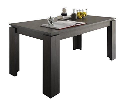 trendteam smart living Esstisch Küchentisch Universal, 160 x 77 x 90 cm in Esche Grau (Nb.) erweiterbar durch Ausziehfunktion auf 200 cm -