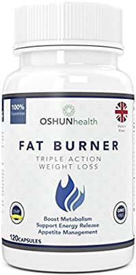 Fat Burner Pills | Max Strength Slimming and Weight Loss Pills | Glucomannan (Konjac Fibre), L-Carnitine, L-Tyrosine, Green Coffee Bean, African Mango, Chromium | Triple Action Thermogenic Appetite Suppressant Diet Pills for Burning Fat | 100% Safe & GMP