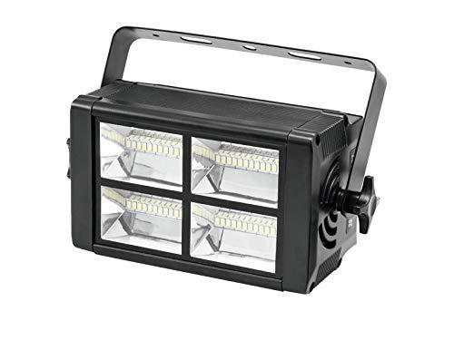 LED Stroboskop 230V / 20W, 48 x weiße LEDs, Musiksteuerung/DMX Steuerung - Disco Blitzer/Stroboskopeffekt - showking
