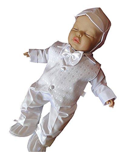 YES Taufanzug Festanzug Babyanzug Anzug Junge Baby Taufe Set Justin wieß 62 - 3