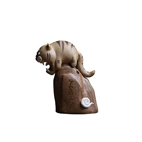 Powzz ornament tigers hill, mappa degli habitat, tè dello zodiaco, ornamenti per animali domestici, giochi da tè, decorazione tigre, regali in ceramica, carta regalo, creazione della carta