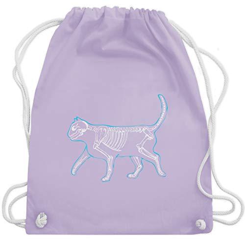 Katzen - spooky cat - Unisize - Pastell Lila - WM110 - Turnbeutel & Gym Bag