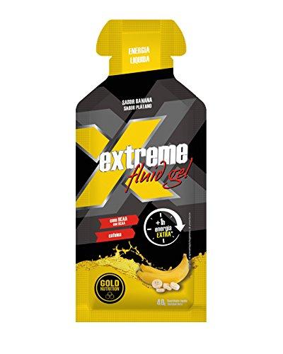 Gel Energético Extreme Fluid Gel Gold Nutrition 12 x 40g Plátano