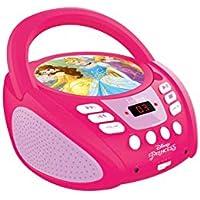 Lexibook RCD108DP Prinzessinen Radio CD Player in schönem Disney Prinzessinnen Design
