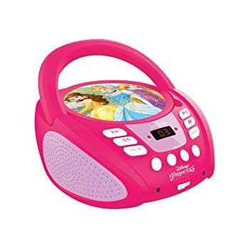 Altoparlante 0.8W x2 Radio FM Design all Characters Ingresso Line-in Presa Cuffie con Microfono Blu Corrente o batterie Lettore Radio CD Disney Frozen Lexibook RCD102FZZ