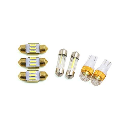 Preisvergleich Produktbild sourcingmap® 7Stk. T10 Weiß 3 LED Panel Licht Auto 31mm Girlande Innenlicht Lampe Paket Kit