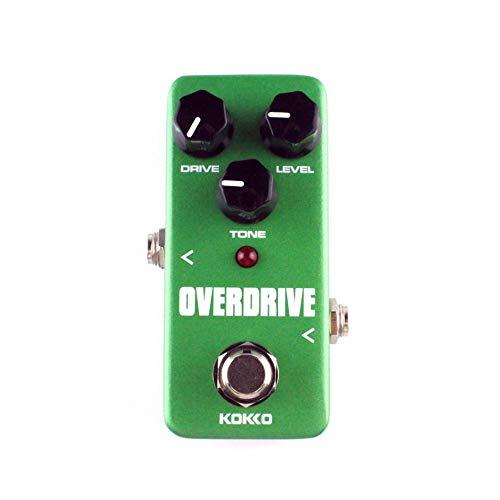 HermosaUKnight KOKKO FOD3 Mini Overdrive Guitarra Eléctrica Pedal de Efecto Sobrecarga de Tubo Stompbox-Verde