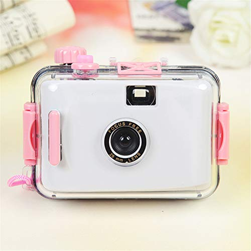 BABIFIS Kinderkamera Einwegkamera Filmkamera LOMO Kamera wasserdicht und stoßfest (Keine Batterie erforderlich) White