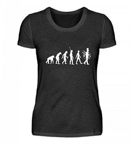Chorchester Camiseta para Mujer evolución del deshollinador, Negro, L