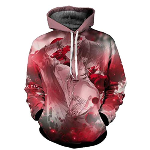 Thema Langarm Hoodie Paar Pullover Sweatshirt Pullover Tops,B-L ()