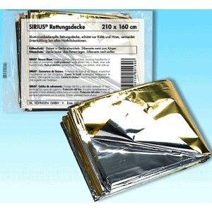 SIRIUS Rettungsdecke 160x210 cm gold/silber 1 St