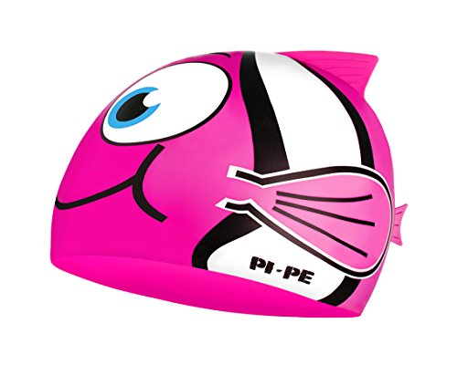 PI-PE Kinder Badekappe Fishy, Pink, One Size