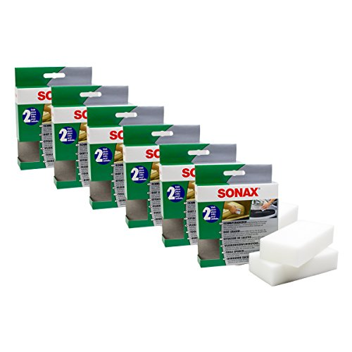 Preisvergleich Produktbild 6x SONAX 04160000 SchmutzRadierer Schuhcreme Wachs Politur Entferner 2 Stück